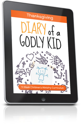 FREE Diary of a Godly Kid Thanksgiving Children's Ministry Lesson