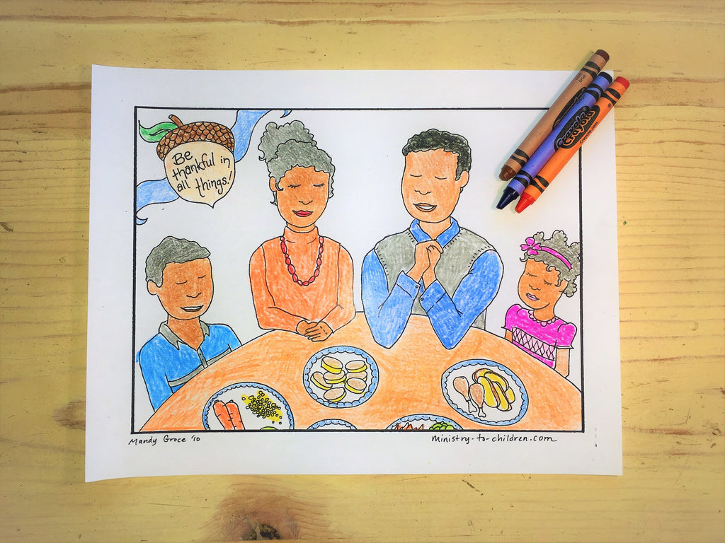 FREE Thanksgiving Dinner Coloring Page