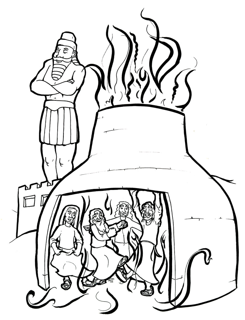 free fiery furnace coloring page the fiery furnace coloring page