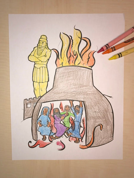 FREE Fiery Furnace Coloring Page Children 39 s Ministry Deals