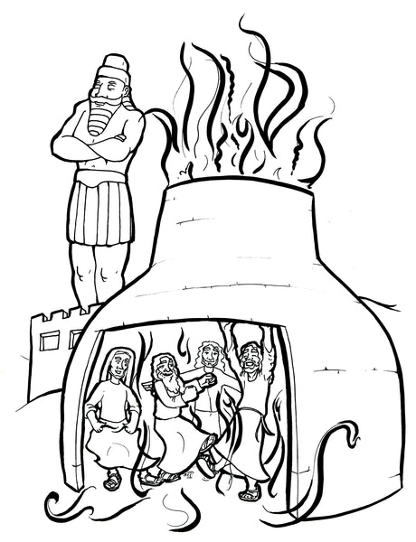 Daniel reads dreams - Old Testament Coloring Pages | Bible-Printables | 600x460