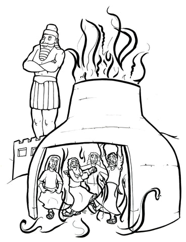 the fiery furnace coloring pages - photo#6