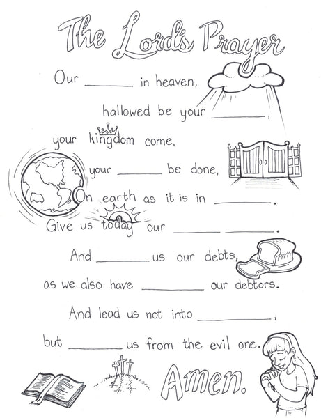 Lord\'s Prayer Coloring Page