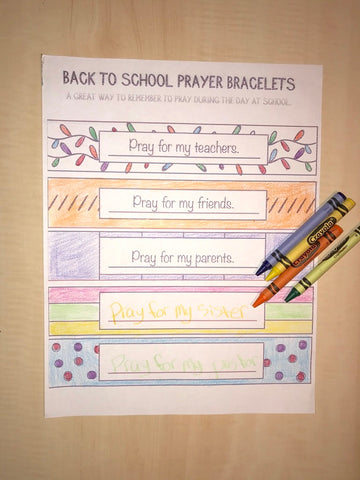 FREE Prayer Bracelet Coloring Page