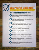 VBS Prayer Checklist
