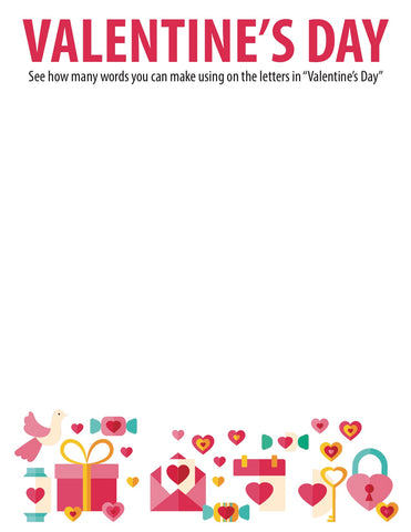 Valentine's Day Word Jumble