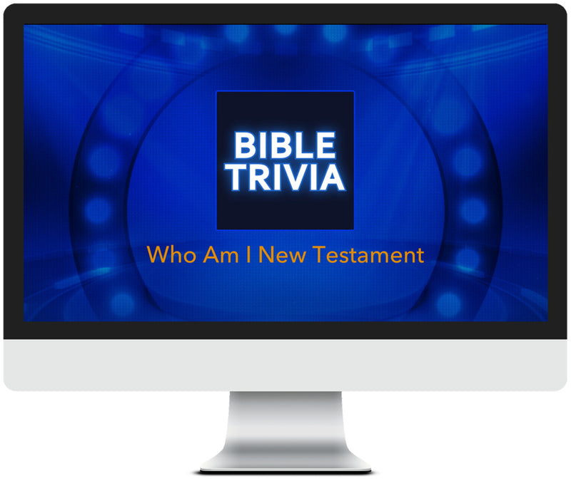 Who Am I New Testament Bible Trivia Game for Kids
