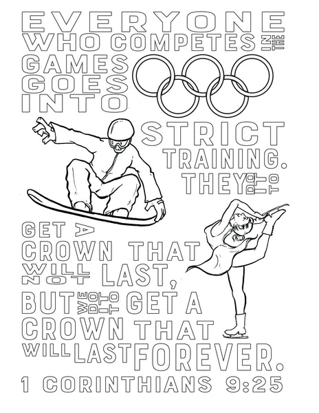 1 Corinthians 9:25 Coloring Page – Children's Ministry Deals Winter Olympic Coloring Pages