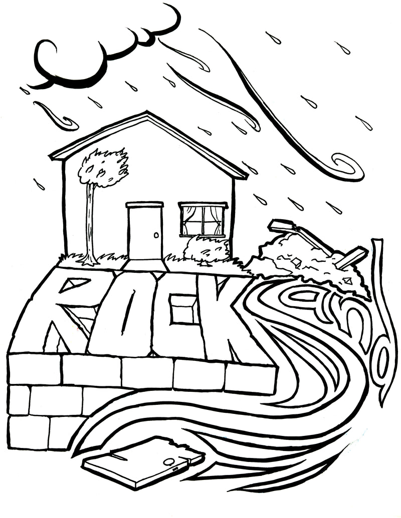 Wise and Foolish Builders Coloring Page