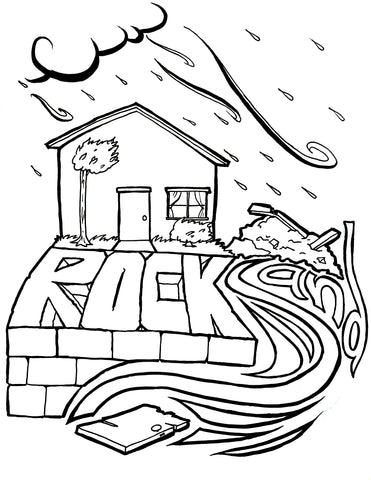 wise man foolish man coloring page wise and foolish builders coloring page children 39 s