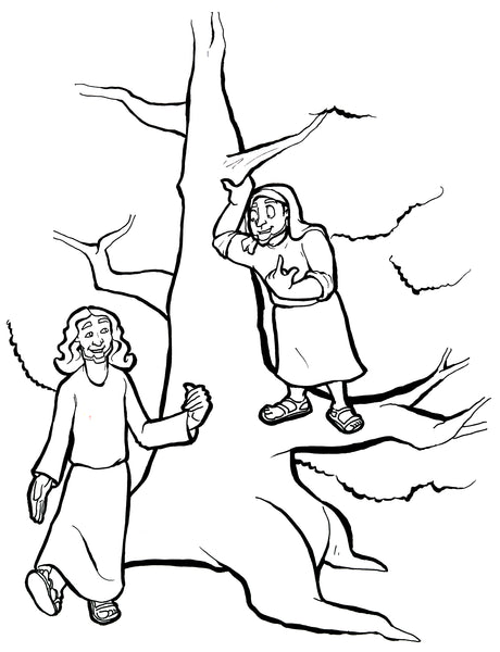 franco zacchaeus coloring pages - photo#4