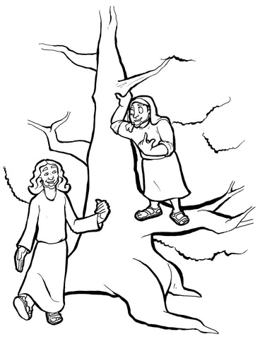 FREE Zacchaeus Coloring Page