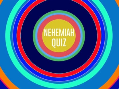 Bible Quiz: Nehemiah Church Game Video for Kids