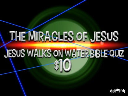 Bible Quiz: Jesus Walks on Water Church Game Video for Kids