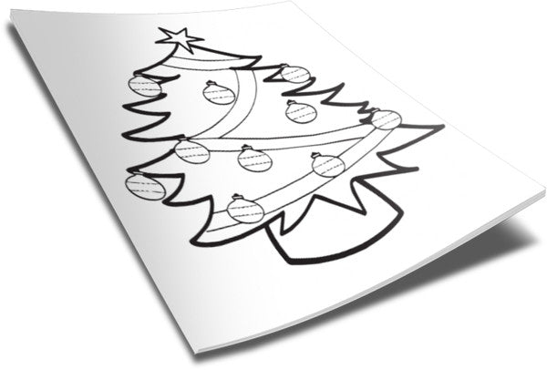 Christmas Coloring Page - Tree