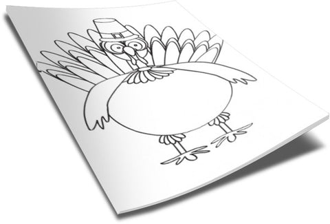 Thanksgiving Coloring Page - Turkey