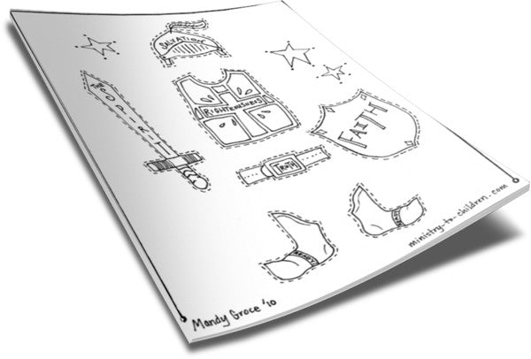 FREE Armor of God Coloring Pages