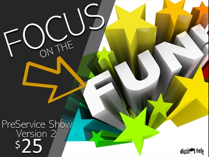 Focus on the Fun Preservice Show Version 2 Church Game Video for Kids