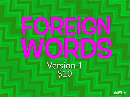 Foreign Words Version 1 Church Game Video for Kids