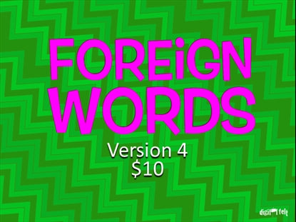 Foreign Words Version 4 Church Game Video for Kids