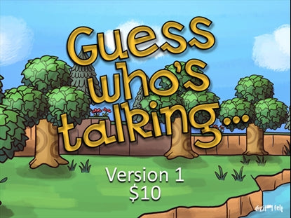 Guess Who's Talking Version 1 Church Game Video for Kids
