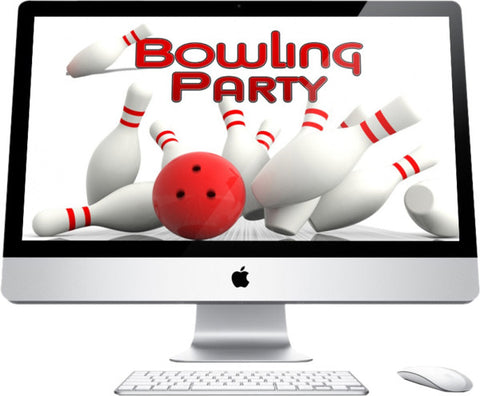 Bowling Party Graphic