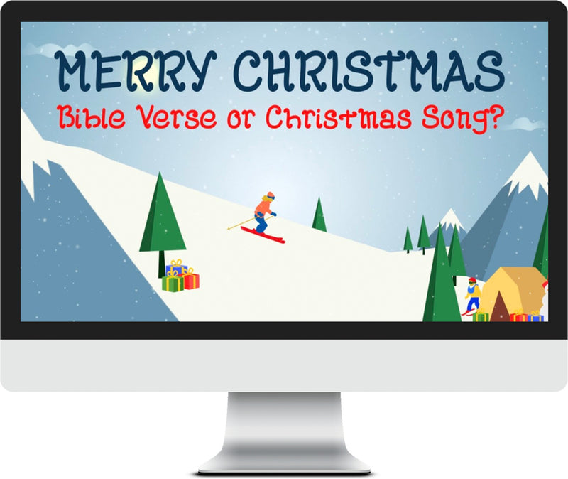 Bible Verse or Christmas Song Game Video