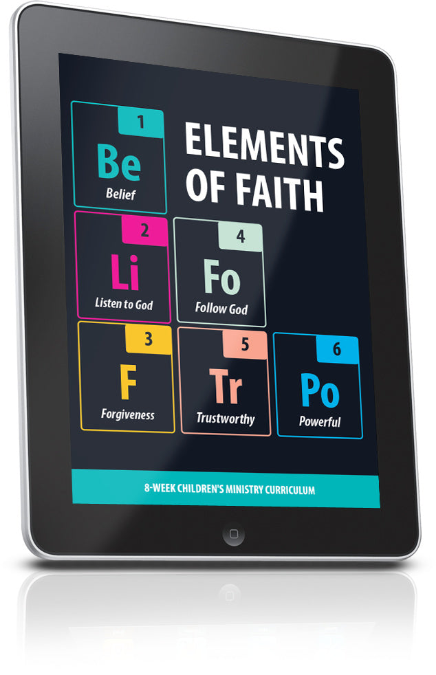 FREE Elements of Faith Sunday School Lesson