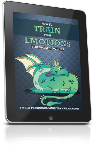 FREE How to Train Your Emotions Preschool Ministry Lesson