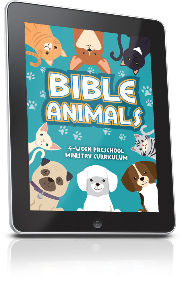 FREE Bible Animals Preschool Sunday School Lesson