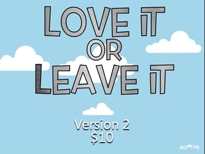 Love It Or Leave It Version 2 Church Game Video for Kids