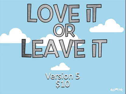 Love It Or Leave It Version 5 Church Game Video for Kids