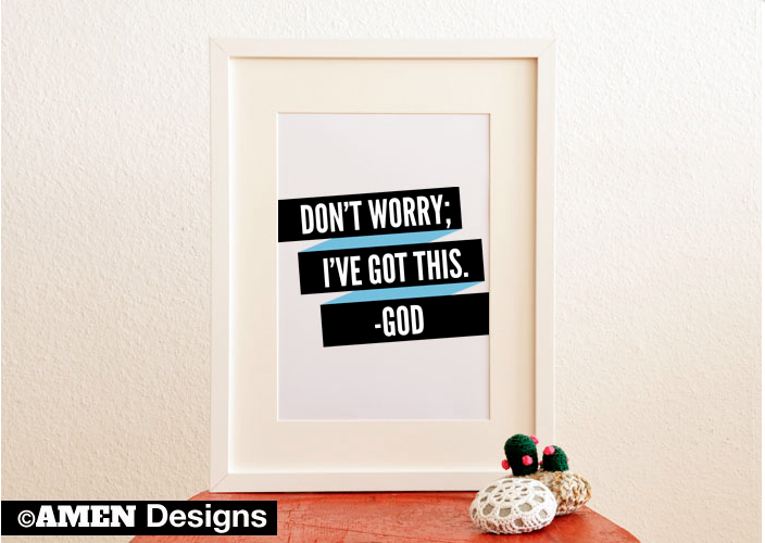 Do Not Worry Printable