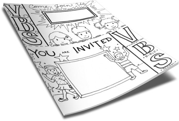 VBS Invitation Coloring Page