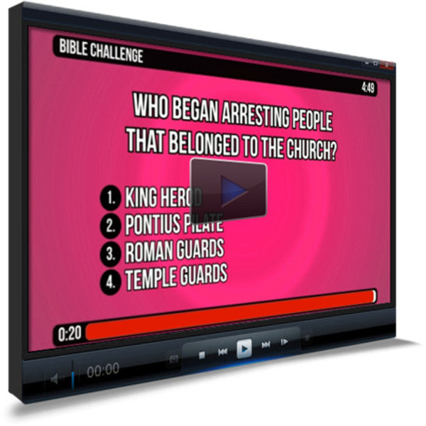 Acts 12:1-24 Bible Trivia for Kids