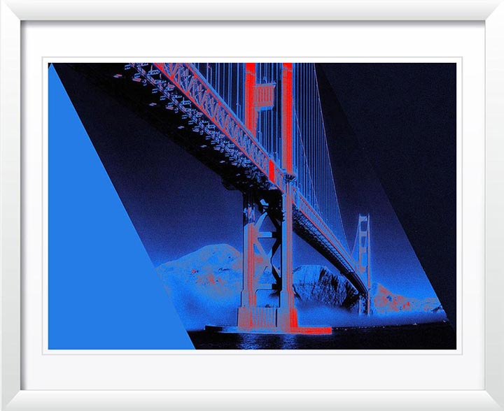 """Golden Gate Bridge, blue"" by Daniel Furon Photography"