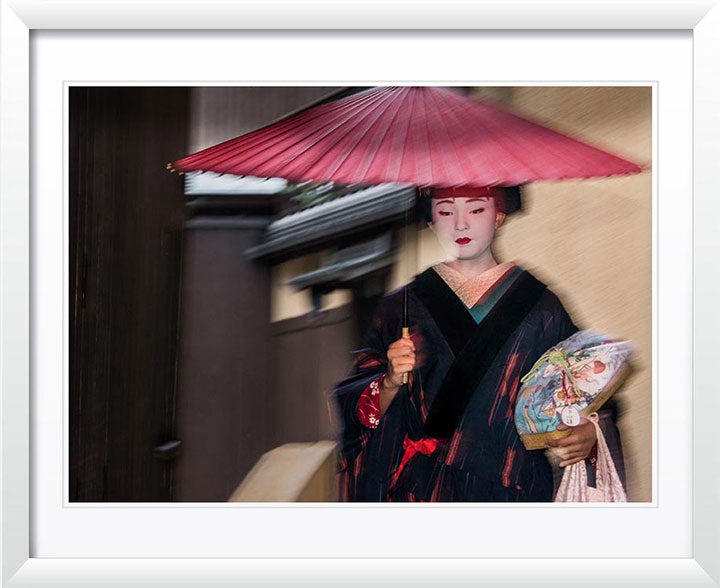 """Geisha in the Rain (A)"" by Dorte Verner Photography"