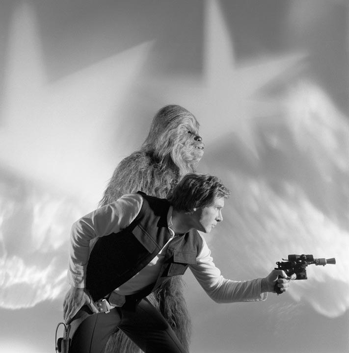 """Chewbacca & Han Solo Return of the Jedi"" by Brian Griffin Photography-Artography Limited"