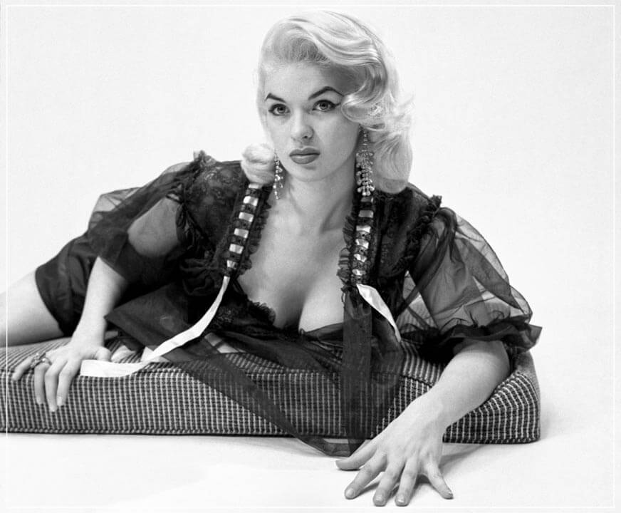 """Jayne Mansfield on Nightgown"" by Barry Kramer Photography-Artography Limited"