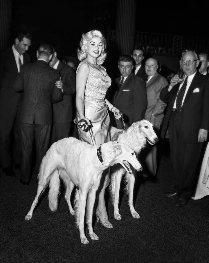 """Jayne Mansfield with Seagrams Dogs"" by Barry Kramer Photography-Artography Limited"