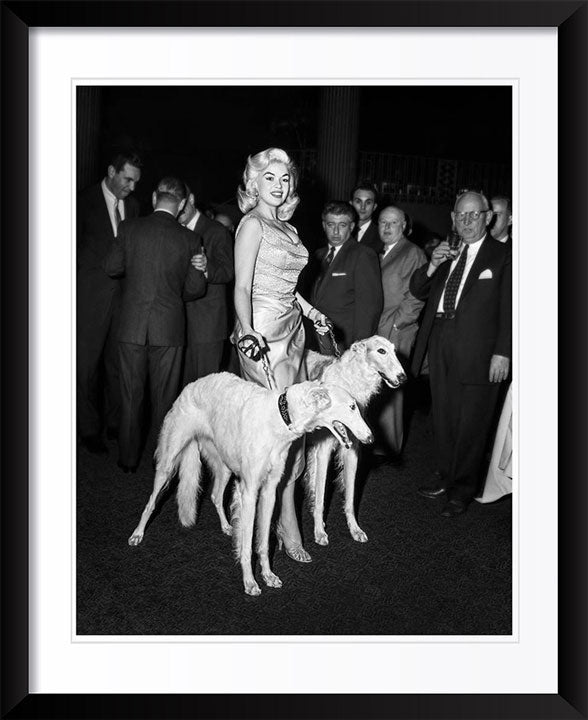 """Jayne Mansfield with Seagrams Dogs"" by Barry Kramer Photography"