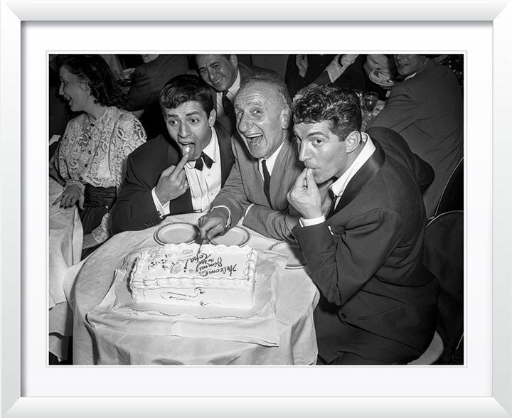 """Jerry and Dean with Jimmy Durante"" by Barry Kramer Photography"