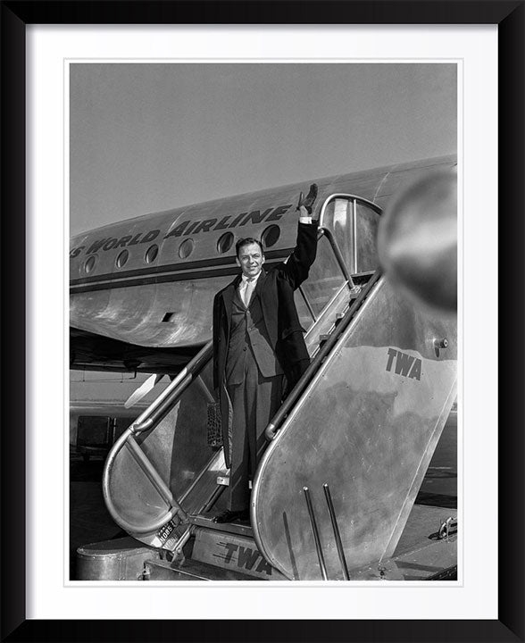 """Frank Sinatra on TWA at La Guardia Airport, NYC"" by Barry Kramer Photography"