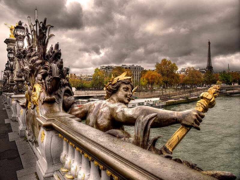 """Pont Alexandre III in Autumn, Paris 2015"" by Christopher Petsos Photography-Artography Limited"