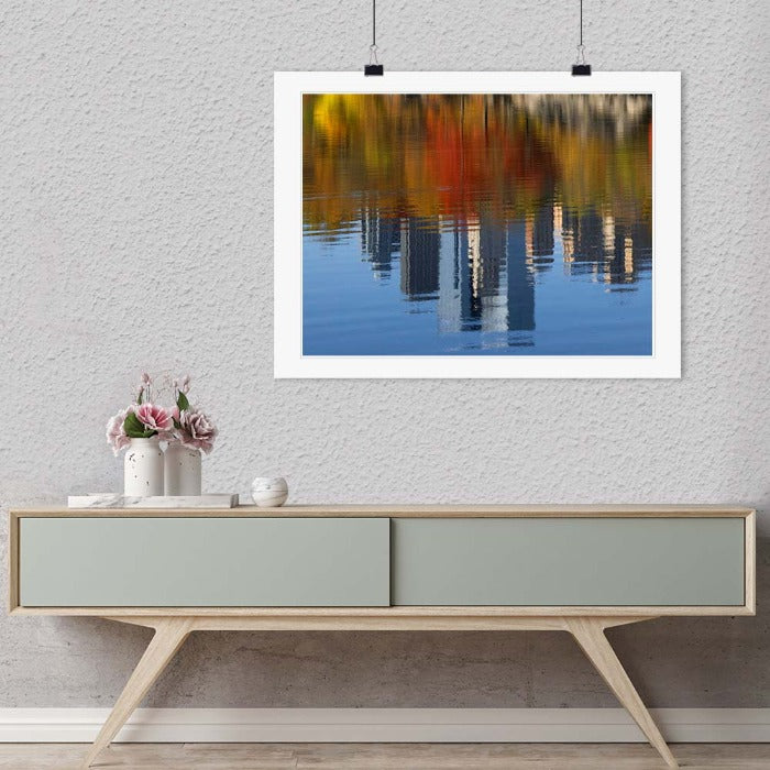 """Autumn Skyline Reflections, New York 2016"" by Christopher Petsos Photography-Artography Limited"