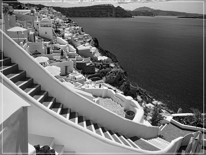 """Heavenly Descent Santorini 2016"" by Christopher Petsos Photography-Artography Limited"