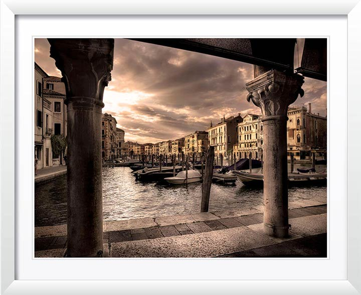 """Sunburst Over the Grand Canal"" by Christopher Petsos Photography"