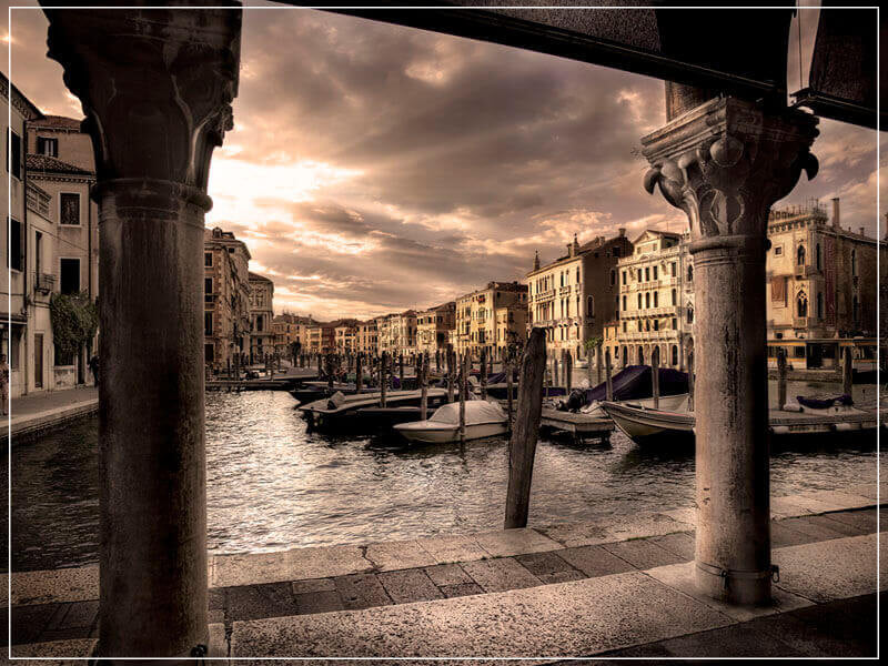 """Sunburst Over the Grand Canal"" by Christopher Petsos Photography-Artography Limited"