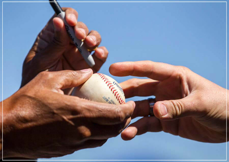 """Baseball Autograph"" by Chuck Solomon Photography-Artography Limited"