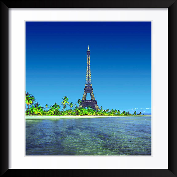 """Eiffel Tower on Island"" by Daniel Furon Photography"